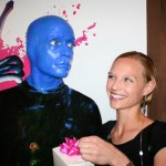 Danielle with one of the Blue Men